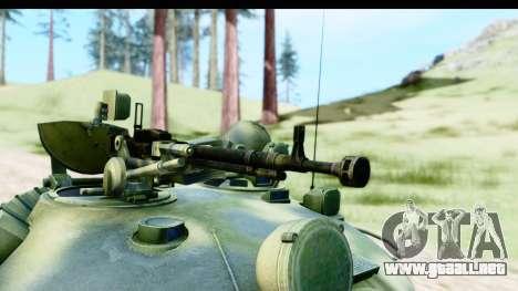T-62 Wood Camo v3 para GTA San Andreas vista hacia atrás