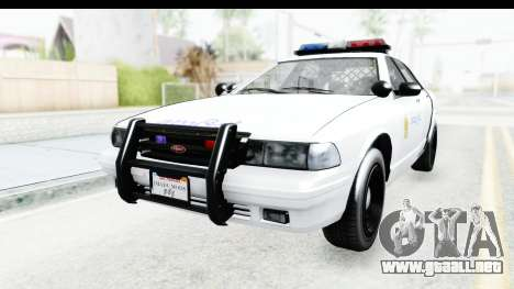 Sri Lanka Police Car v3 para GTA San Andreas vista posterior izquierda