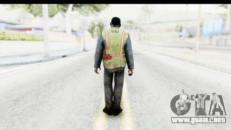 Left 4 Dead 2 - Zombie Baggage Handler para GTA San Andreas tercera pantalla
