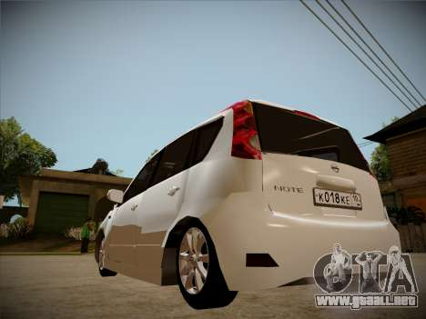 Nissan Note 2008 para vista lateral GTA San Andreas