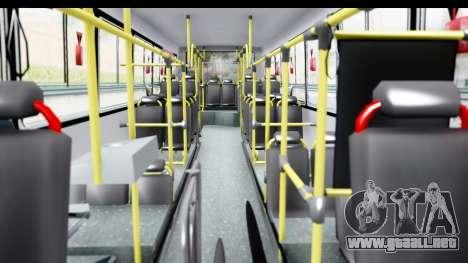 Bus La Favorita Ecotrans para visión interna GTA San Andreas
