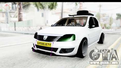 Dacia Logan Coil para GTA San Andreas vista posterior izquierda