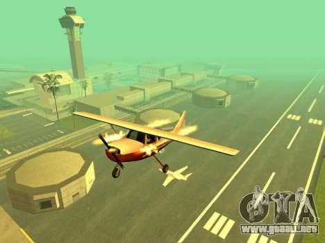 La adición de armas a la técnica de aire para GTA San Andreas tercera pantalla