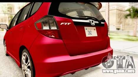 Honda Fit Sport 2009 para vista inferior GTA San Andreas