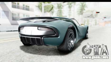 GTA 5 Pfister 811 para GTA San Andreas left