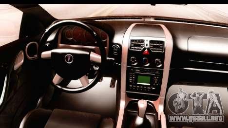Pontiac GTO 2006 para visión interna GTA San Andreas