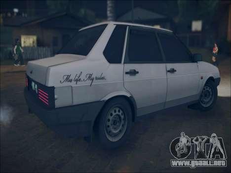 VAZ 21099 LT para visión interna GTA San Andreas