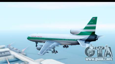 Lockheed L-1011-100 TriStar Cathay Pacific Air para GTA San Andreas left