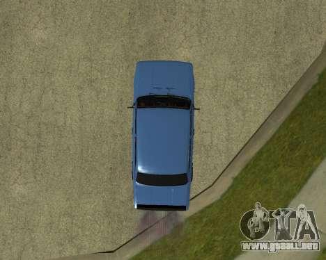 VAZ 2101 Armenia para GTA San Andreas vista hacia atrás