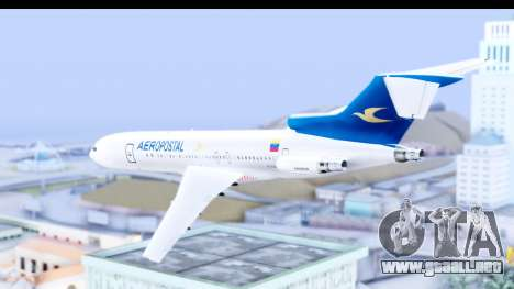 Boeing 727-200 Aeropostal para GTA San Andreas left