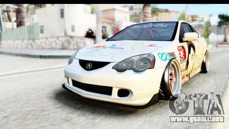 Acura RSX Type S 2002 Nisekoi Itasha para GTA San Andreas