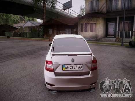 Skoda Octavia A7 R para GTA San Andreas vista hacia atrás