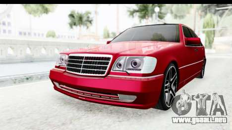 Mercedes-Benz W140 S600 AMG para la visión correcta GTA San Andreas
