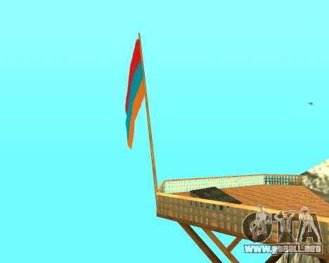 Armenian Flag On Mount Chiliad V-2.0 para GTA San Andreas