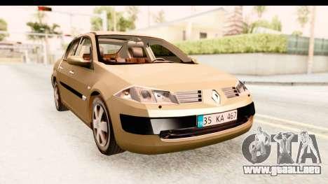 Renault Megane 2 Sedan 2003 para la visión correcta GTA San Andreas