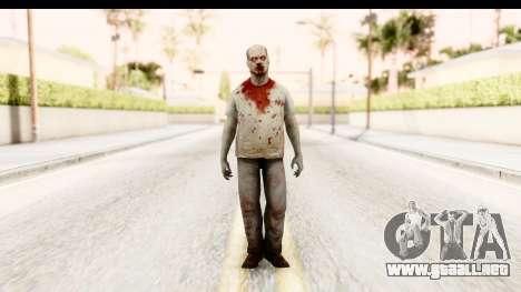 Left 4 Dead 2 - Zombie T-Shirt para GTA San Andreas segunda pantalla