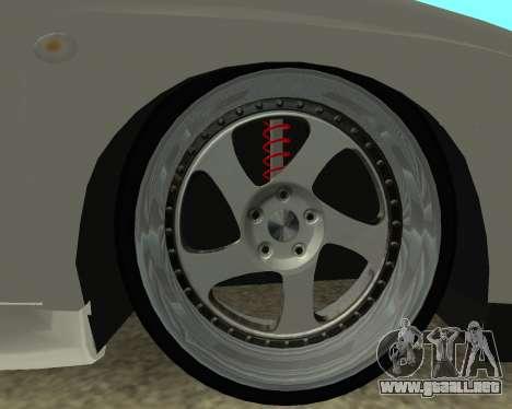 Subaru Impreza Armenian para GTA San Andreas vista hacia atrás