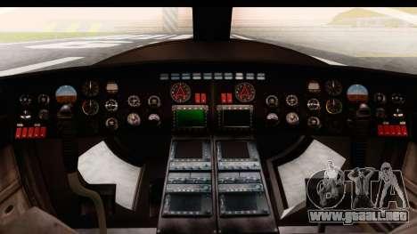 GTA 5 Buckingham Valkyrie para GTA San Andreas vista hacia atrás