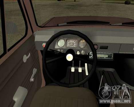 Zaz 968M armenia para vista lateral GTA San Andreas