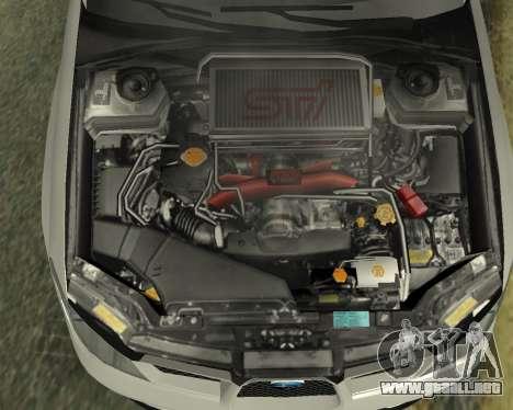 Subaru Impreza Armenian para la vista superior GTA San Andreas