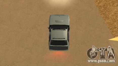 Super Sultan para GTA San Andreas vista hacia atrás