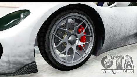 GTA 5 Pfister 811 SA Lights para GTA San Andreas vista hacia atrás