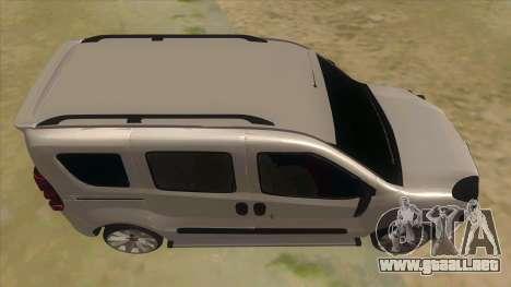 Fiat Doblo 2015 Series para visión interna GTA San Andreas