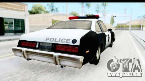 Pontiac Ventura LSPD from Silent Hill 2 para GTA San Andreas left