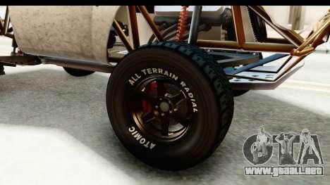 GTA 5 Trophy Truck IVF para GTA San Andreas vista hacia atrás