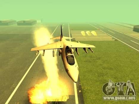 La adición de armas a la técnica de aire para GTA San Andreas segunda pantalla