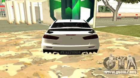 Mitsubishi Lancer X GVR para GTA San Andreas left