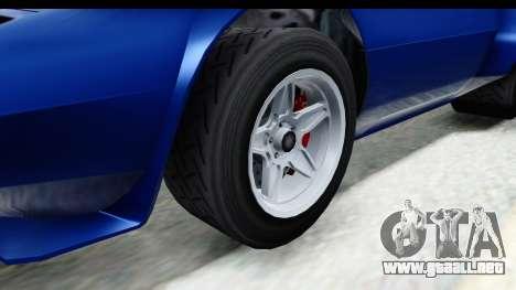 GTA 5 Lampadati Tropos Rallye No Headlights IVF para GTA San Andreas vista hacia atrás