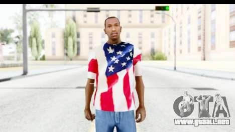 T-Shirt USA Flag para GTA San Andreas segunda pantalla