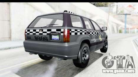 GTA 5 Canis Seminole Taxi para GTA San Andreas vista posterior izquierda
