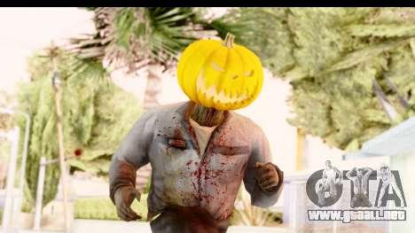 Left 4 Dead 2 - Zombie Pumpkin para GTA San Andreas