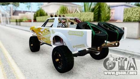 GTA 5 Trophy Truck IVF para la vista superior GTA San Andreas