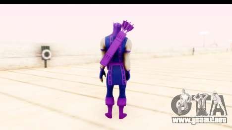 Marvel Heroes - Hawkeye para GTA San Andreas tercera pantalla