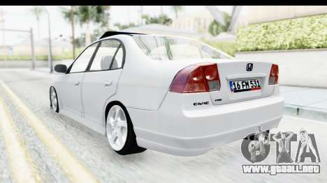 Honda Civic Vtec para GTA San Andreas left