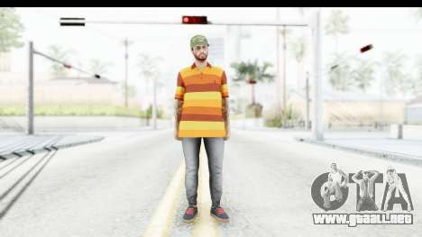 Skin Male Random 3 GTA Online para GTA San Andreas segunda pantalla