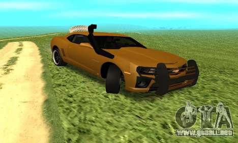 Chevrolet Camaro 2010 para la visión correcta GTA San Andreas