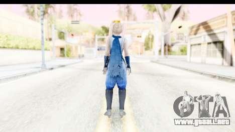 DoA 5: LR - Marie Rose Ninja para GTA San Andreas tercera pantalla