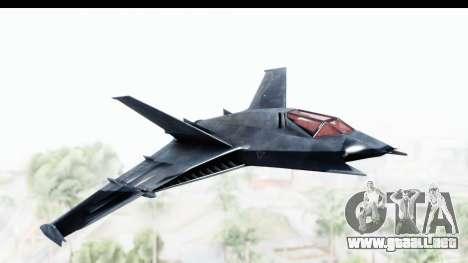 Batman Arkham Origins - Batwing para GTA San Andreas vista posterior izquierda