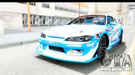 Nissan Silvia S15 D1GP Blue Toyo Tires para GTA San Andreas