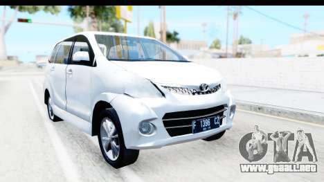 Toyota Avanza Veloz 2012 v1.1 para la visión correcta GTA San Andreas