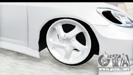 Honda Civic Vtec para GTA San Andreas vista hacia atrás