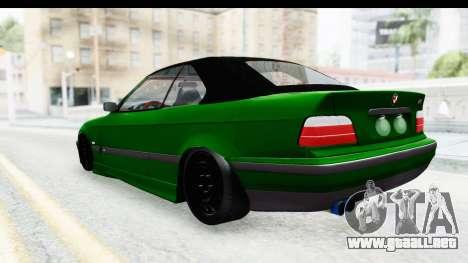 BMW M3 E36 Sloboz Edition para GTA San Andreas vista posterior izquierda