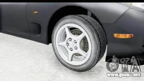 Mazda RX-7 4-doors Fastback para GTA San Andreas vista hacia atrás