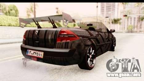 Renault Megane Spyder Full Tuning v2 para la visión correcta GTA San Andreas