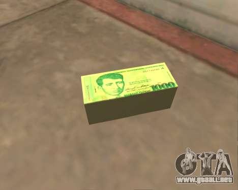 1000 Armenian Dram para GTA San Andreas sucesivamente de pantalla