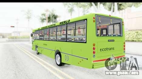 Bus La Favorita Ecotrans para la visión correcta GTA San Andreas